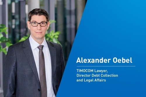 Intervju med Alexander Oebel, TIMOCOM-advokat, Director Debt Collection & Legal Affairs